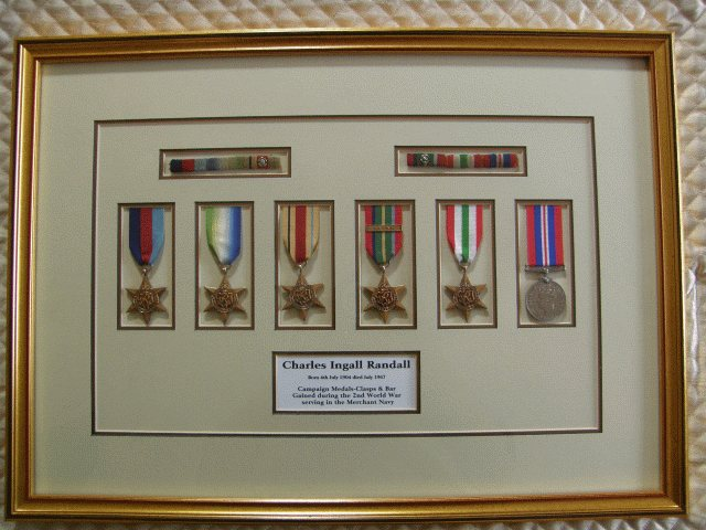 Medals mounted